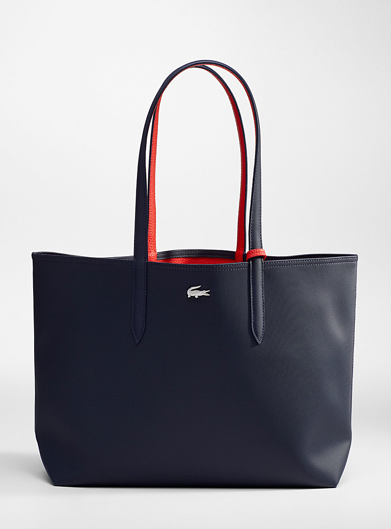 Lacoste Black Anna reversible tote bag for women