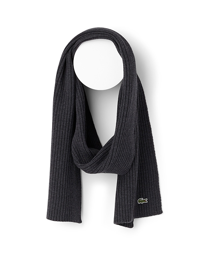 Ribbed wool scarf - Outdoor scarves - Light Grey