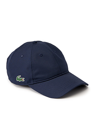 Lacoste Marine Blue Diamond weave croc cap for men