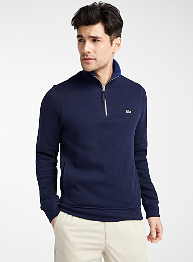 Croc emblem half-zip sweater