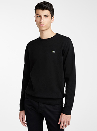Croc emblem crew neck sweater
