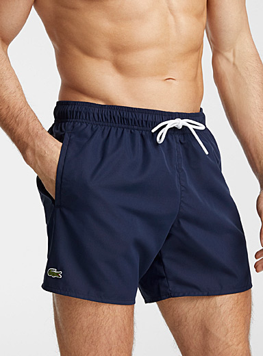 Croc emblem solid swim trunk