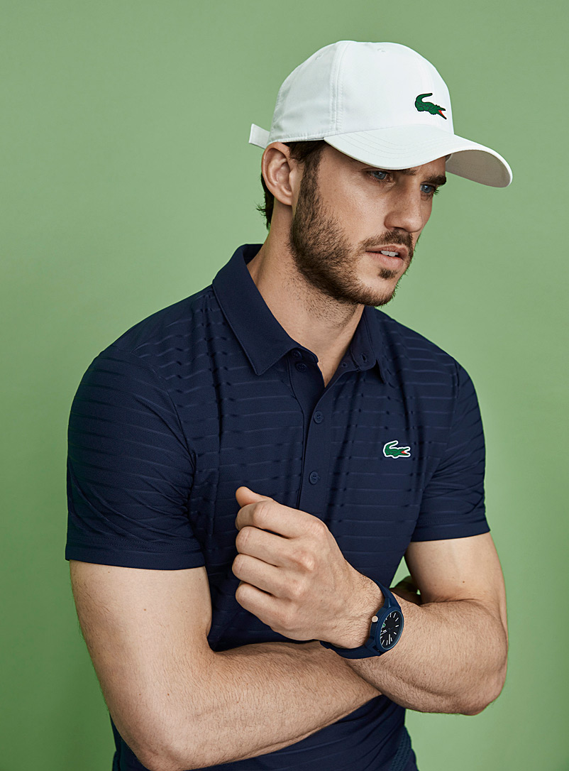 Lacoste White Croc logo cap for men