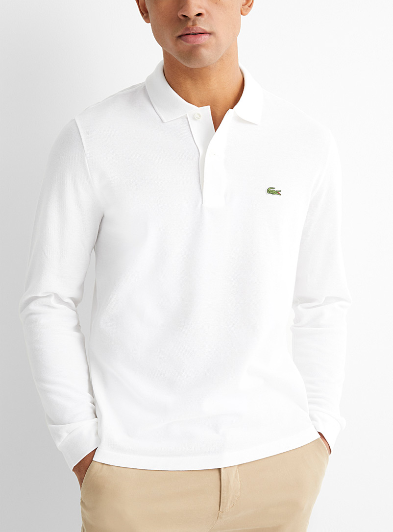 Classic long-sleeve croc polo