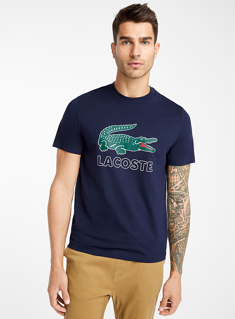 Lacoste Marine Blue Iconic croc T-shirt for men