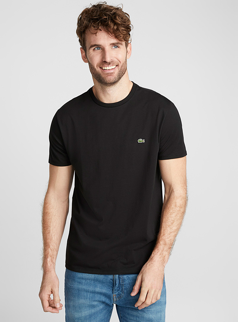 Lacoste Black Croc crew neck T-shirt for men