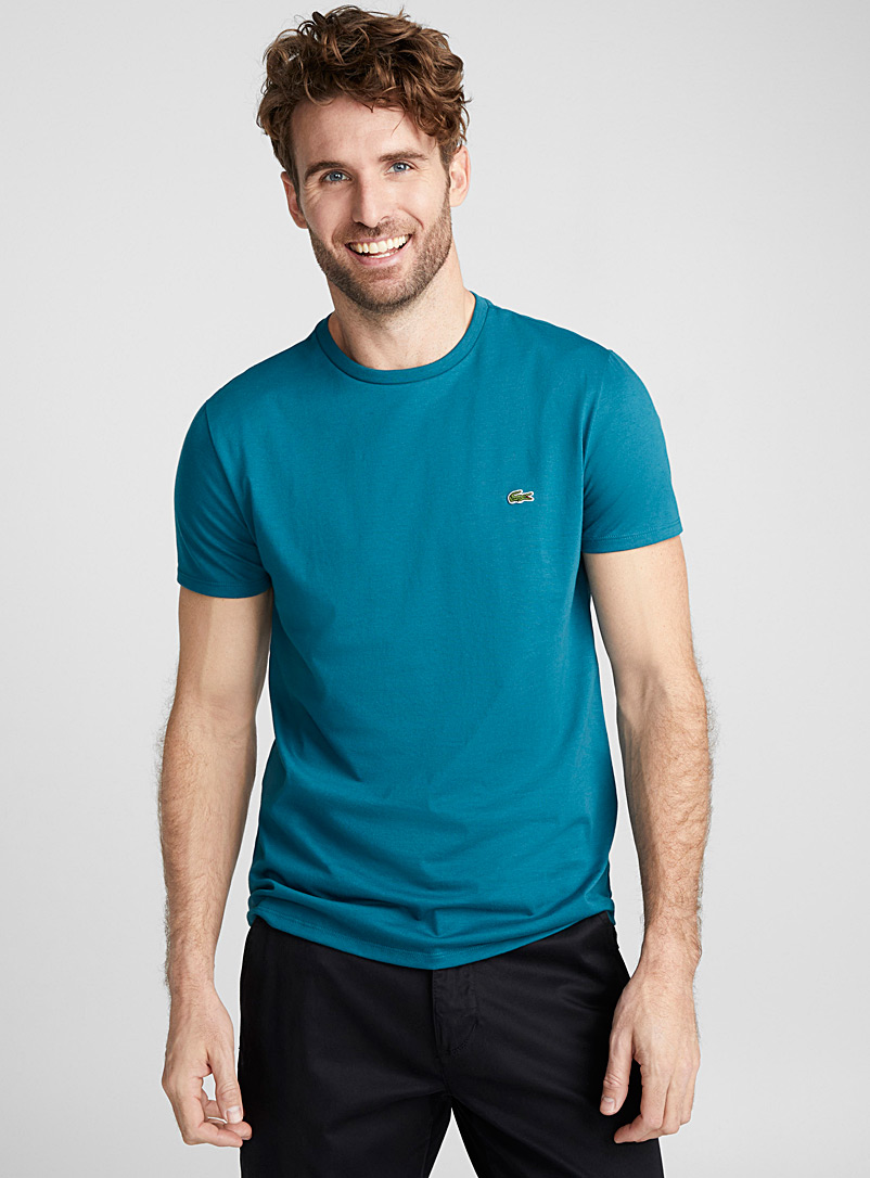 Croc crew neck T-shirt - Short sleeves & 3/4 sleeves - Teal