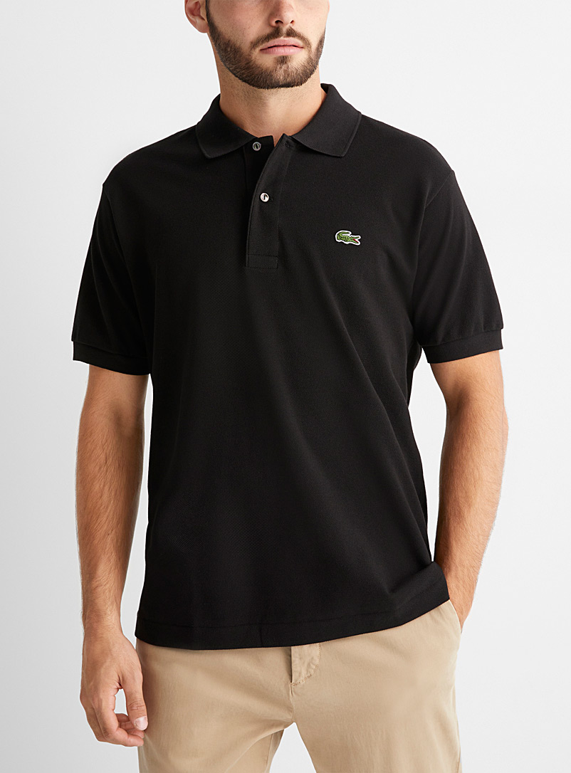 Lacoste Black Croc classic polo for men