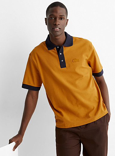 Two-tone accent polo