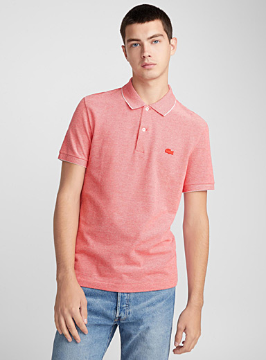 Tone-on-tone croc piqué polo