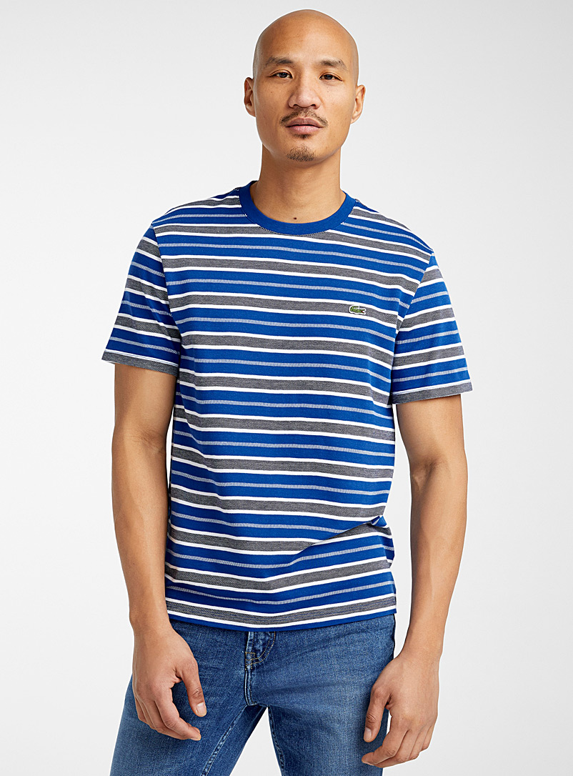 Lacoste Blue Jacquard stripe T-shirt for men