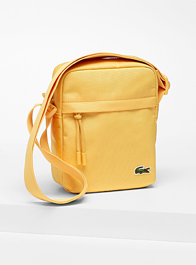 Lacoste Golden Yellow Neocroc shoulder bag for men