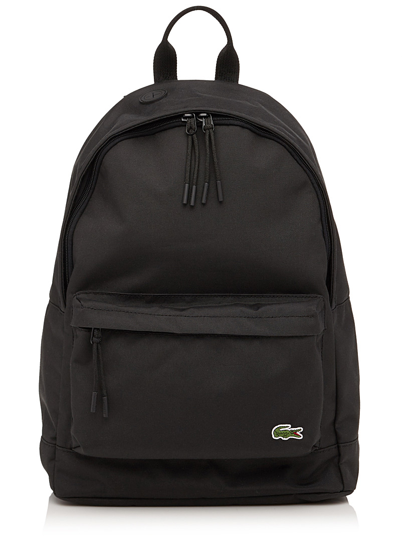 Lacoste Black Neocroc backpack for men