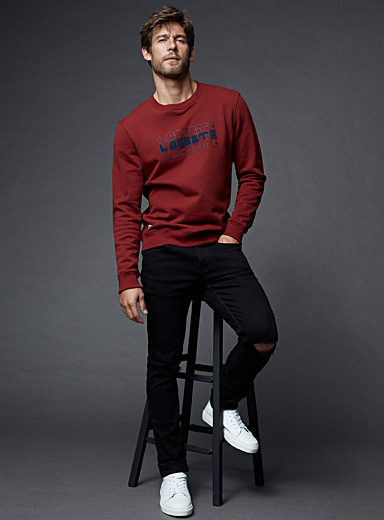 Le sweat logo relief répété