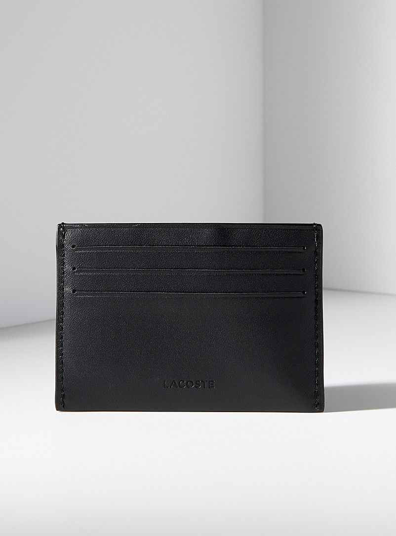 Lacoste Black FG card holder for men