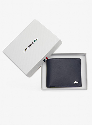 Lacoste Patterned Blue Tricolour wallet for men