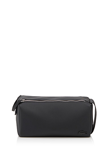 Lacoste Black Double-zip case for men