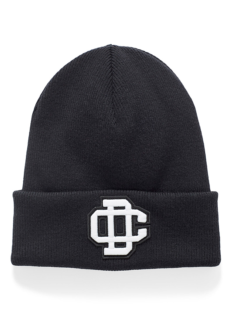 Dsquared2 Black Monogram ribbed tuque for men