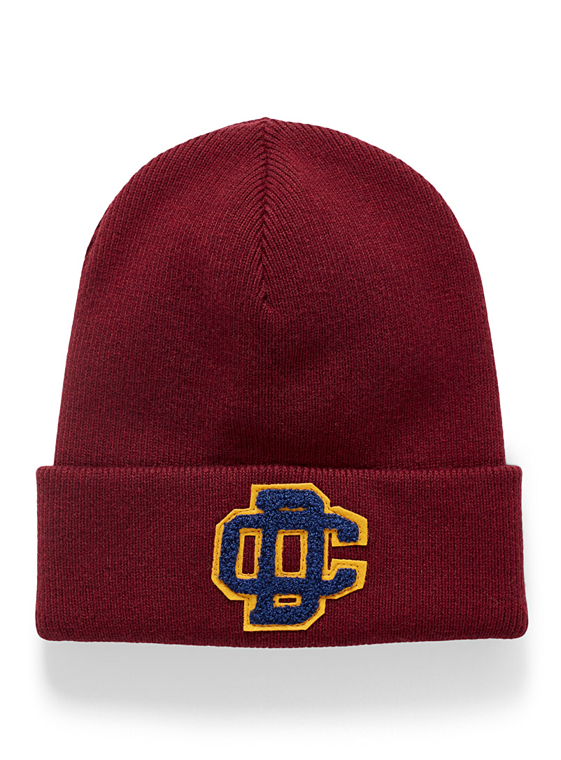 Dsquared2 Ruby Red Monogram ribbed tuque for men