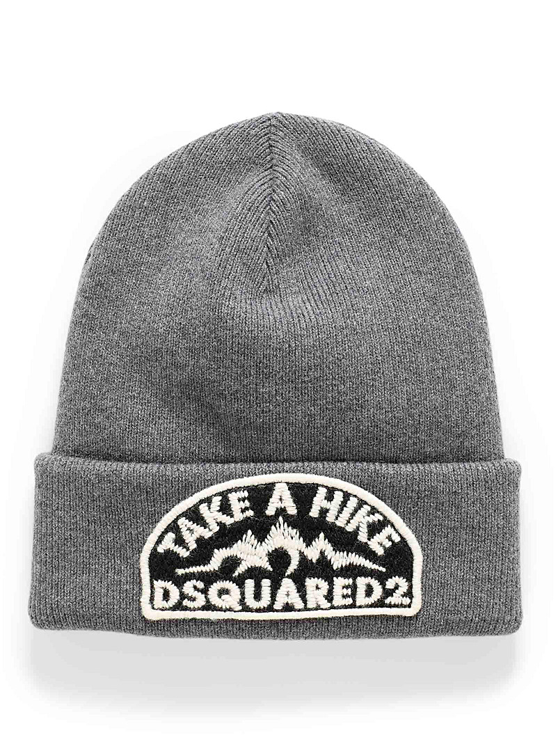 Dsquared2: La tuque Take a Hike Gris pour homme