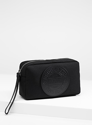 Signature emblem cosmetics bag