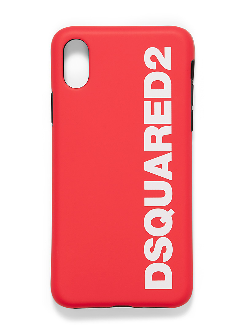 Dsquared2 Red Logo two-tone phone case for men