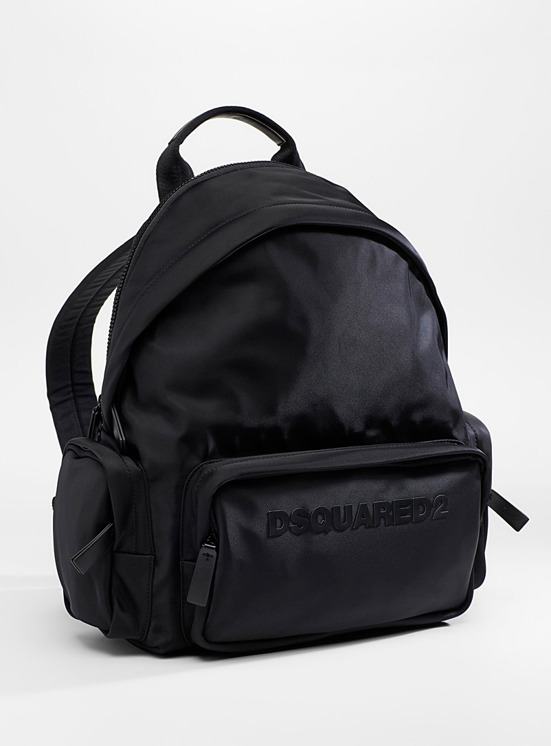 Dsquared2 Black Logo nylon backpack for men