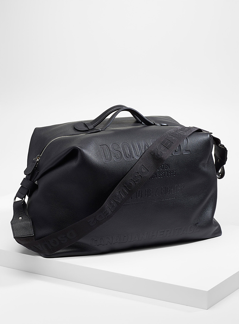Dsquared2 Black Canadian Heritage duffle bag for men