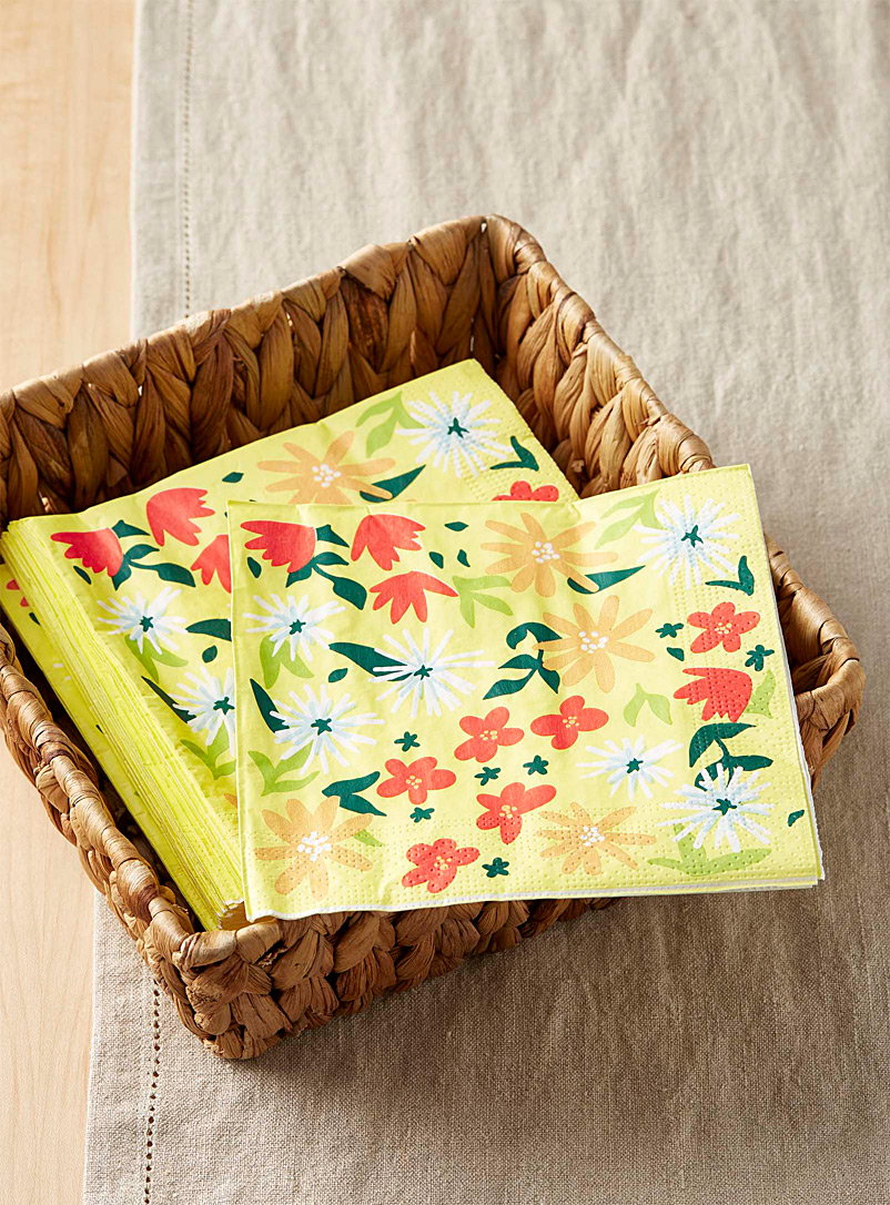 Spring bloom paper napkins  33 x 33 cm. Pack of 20. - Paper - Assorted