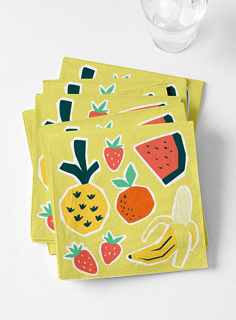 Simons Maison Assorted Fruity tango paper napkins  33 x 33 cm. Pack of 20.