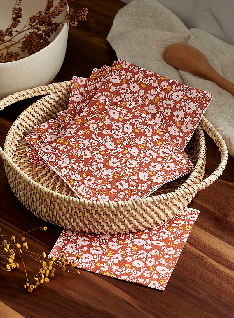 Simons Maison Copper Rural retreat paper napkins 33 x 33 cm. Pack of 20.