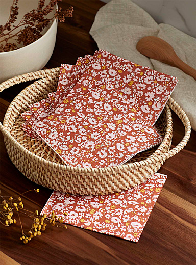 Rural retreat paper napkins 33 x 33 cm. Pack of 20.