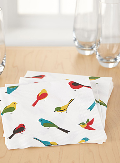 Small bird paper napkins  33 x 33 cm. Pack of 20.