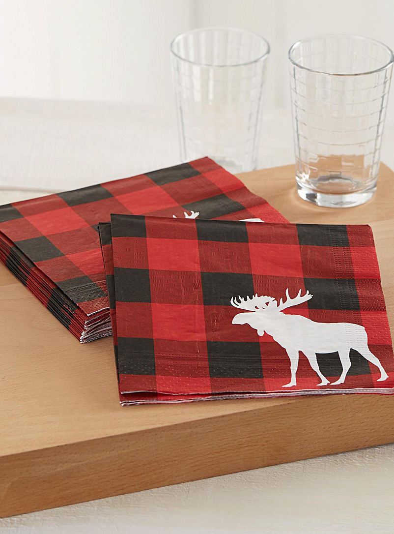 Moose hunt paper napkins  33 x 33 cm. Pack of 20.
