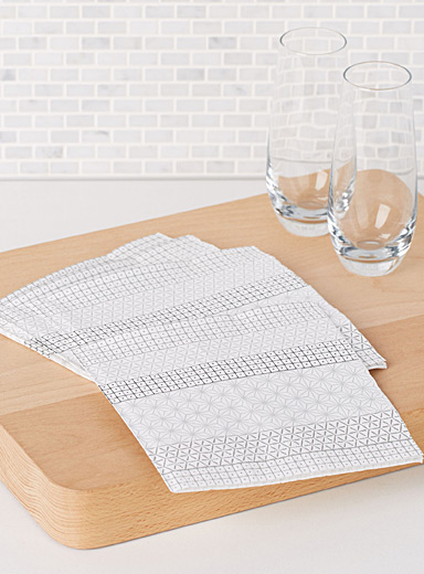 Striped mosaic paper napkins  33 x 33 cm. Pack of 20.