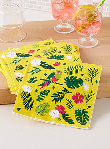 Tropical bird paper napkins  33 x 33 cm. Pack of 20.