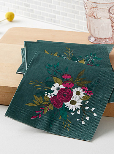 Precious bouquet paper napkins  33 x 33 cm. Pack of 20.