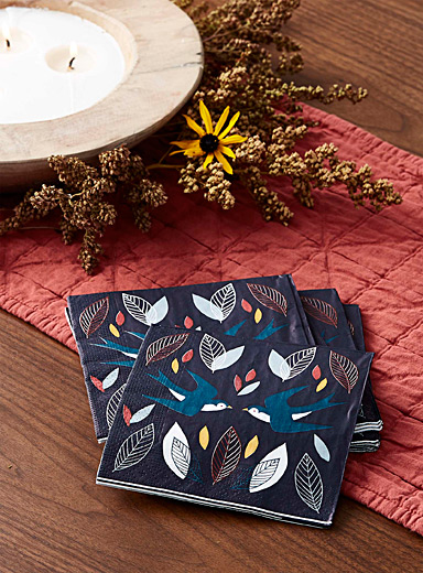 Simons Maison Assorted Sweet messengers paper napkins  33 x 33cm. Pack of 20.