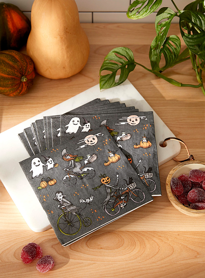 Simons Maison Assorted Fright night paper napkins 33 x 33cm. Pack of 20.