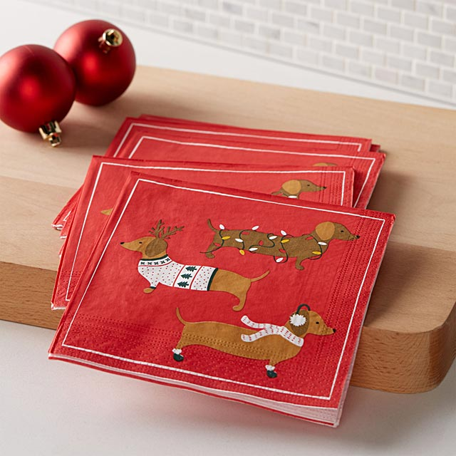 holiday-dachshund-paper-napkins-33-x-33-cm-pack-of-20