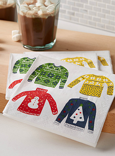 Christmas sweater paper napkins  33 x 33 cm. Pack of 20.