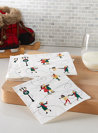 City skating paper napkins  33 x 33 cm. Pack of 20.