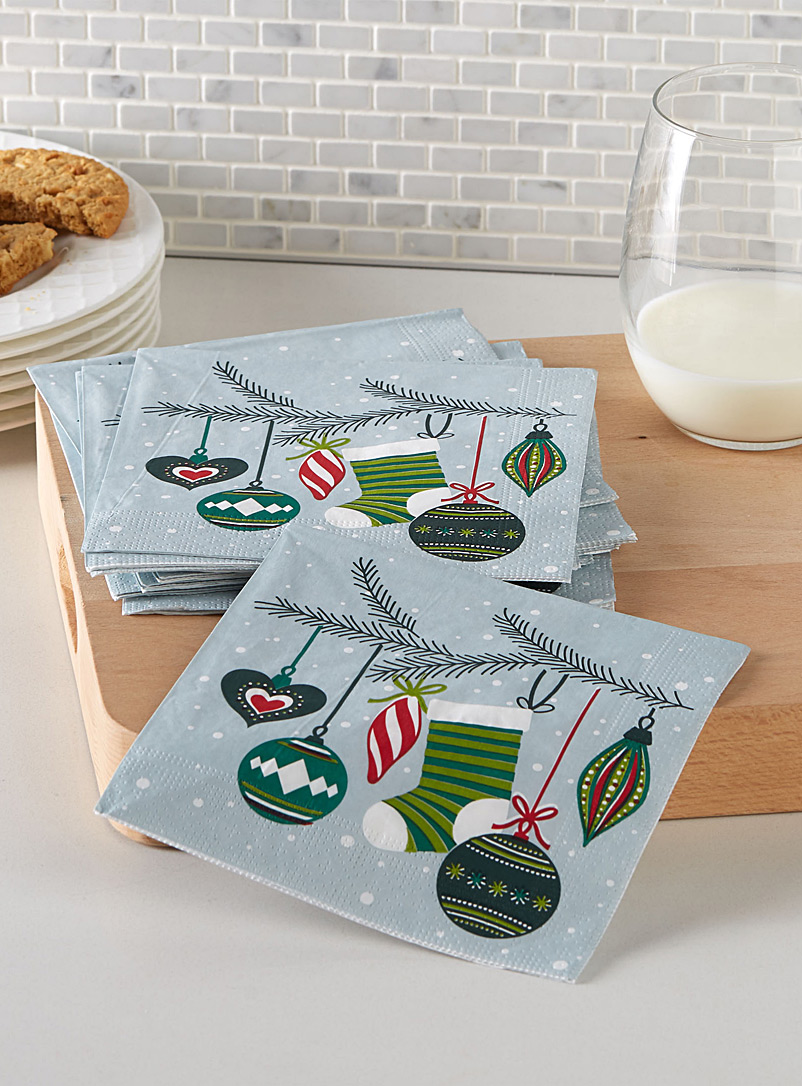 Decorated tree paper napkins  33 x 33 cm. Pack of 20.