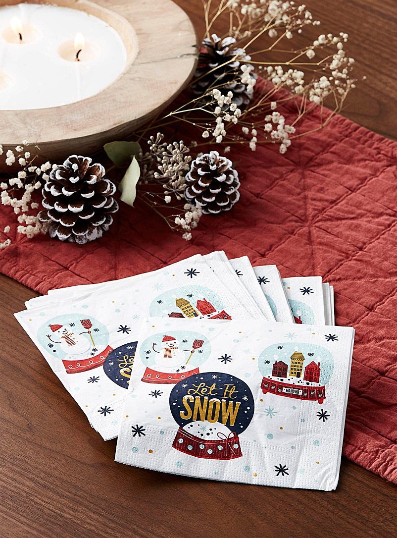 Let it snow paper napkins  33 x 33 cm. Pack of 20. - Paper - Assorted