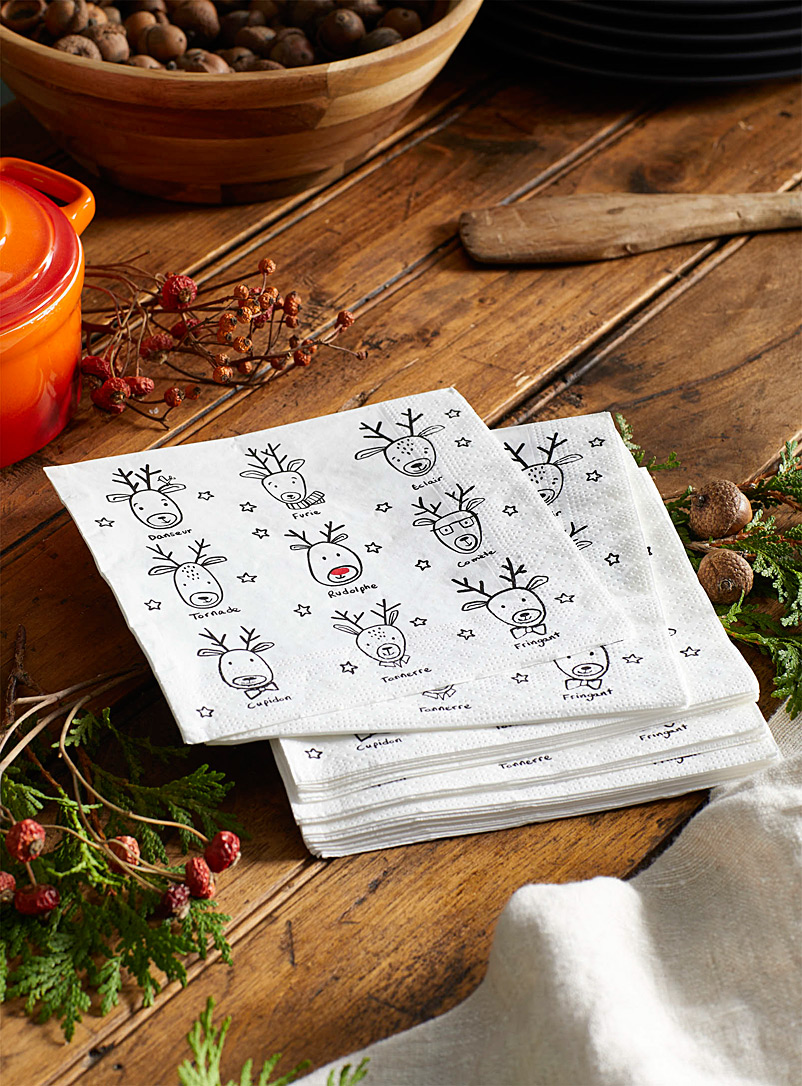 Rudolph paper napkins  33 x 33cm. Pack of 20.