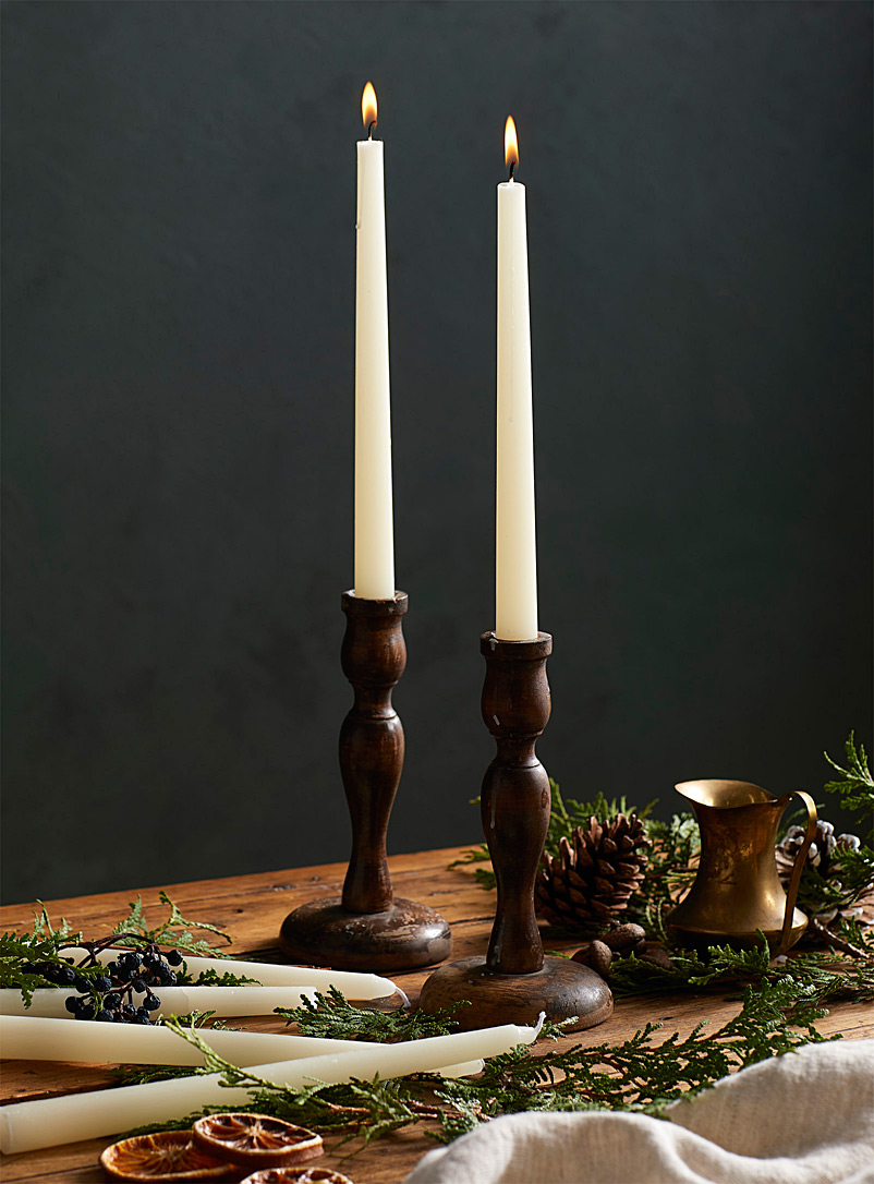 Long 25 cm candles  Set of 6