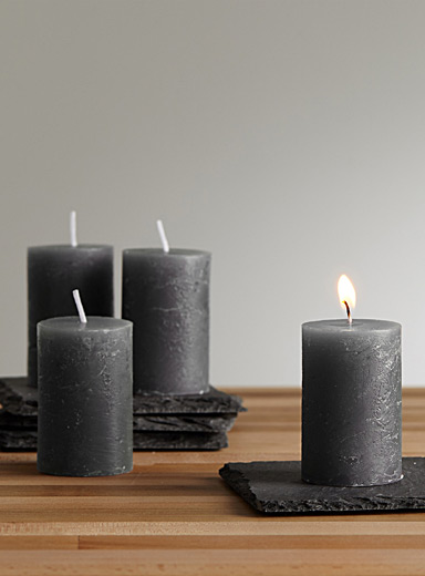 6 cm pillar candles  Set of 4