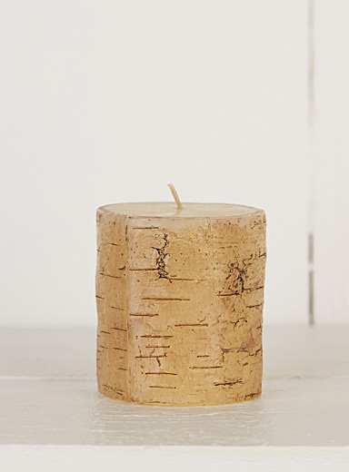 Faux-birch candles