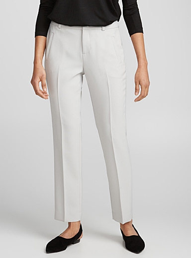 Semi-slim techno crepe pant