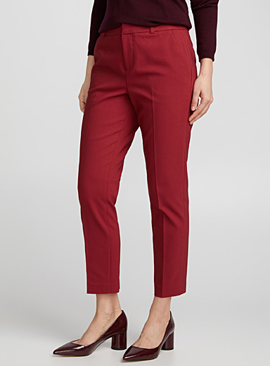 Structured slim ankle pant